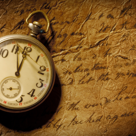 pocket-watch and old hand-written personal letter