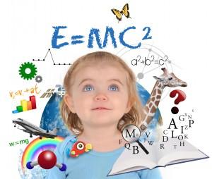 Education School Girl Learning On White